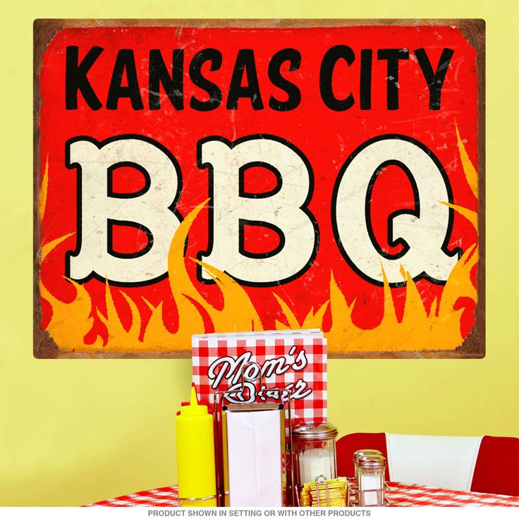 This removable wall sticker features a distressed southern style design perfect for kitchen, diner, or restaurant decor. Sticks to most flat surfaces without leaving sticky residue. Great for places you can't hang signs like fridges, cabinets, and more. Printed on premium opaque polyester fabric with special matte finish for a glare-free view at every angle. Original design from the Retro Planet collection. Available in 12, 24, 36 and 48 inch sizes.
