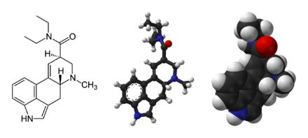 Lysergic acid diethylamide ,[5][6][7] abbreviated LSD or LSD-25, also known as lysergide and colloquially as acid, is a psychedelic drug of the ergoline family, well known for its psychological effects—which can include altered thinking processes, closed- and open-eye visuals, synesthesia, an altered sense of time, and spiritual experiences—as well as for its key role in 1960s counterculture. It is used mainly as an entheogen and recreational drug. LSD is not addictive.[8] However, acute…