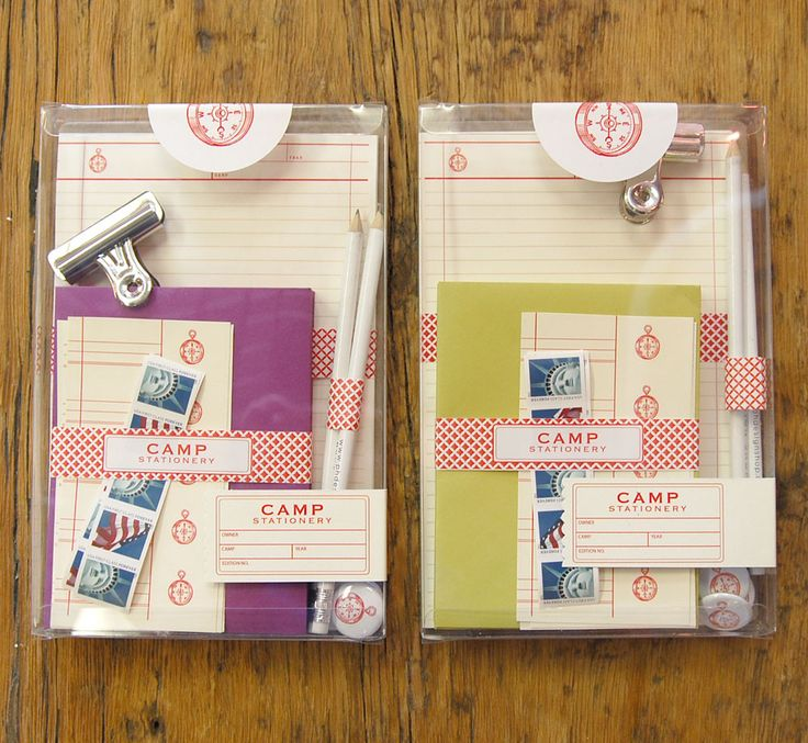every kid needs this before going to camp.  http://store.phdesignshop.com/product/camp-stationery-set