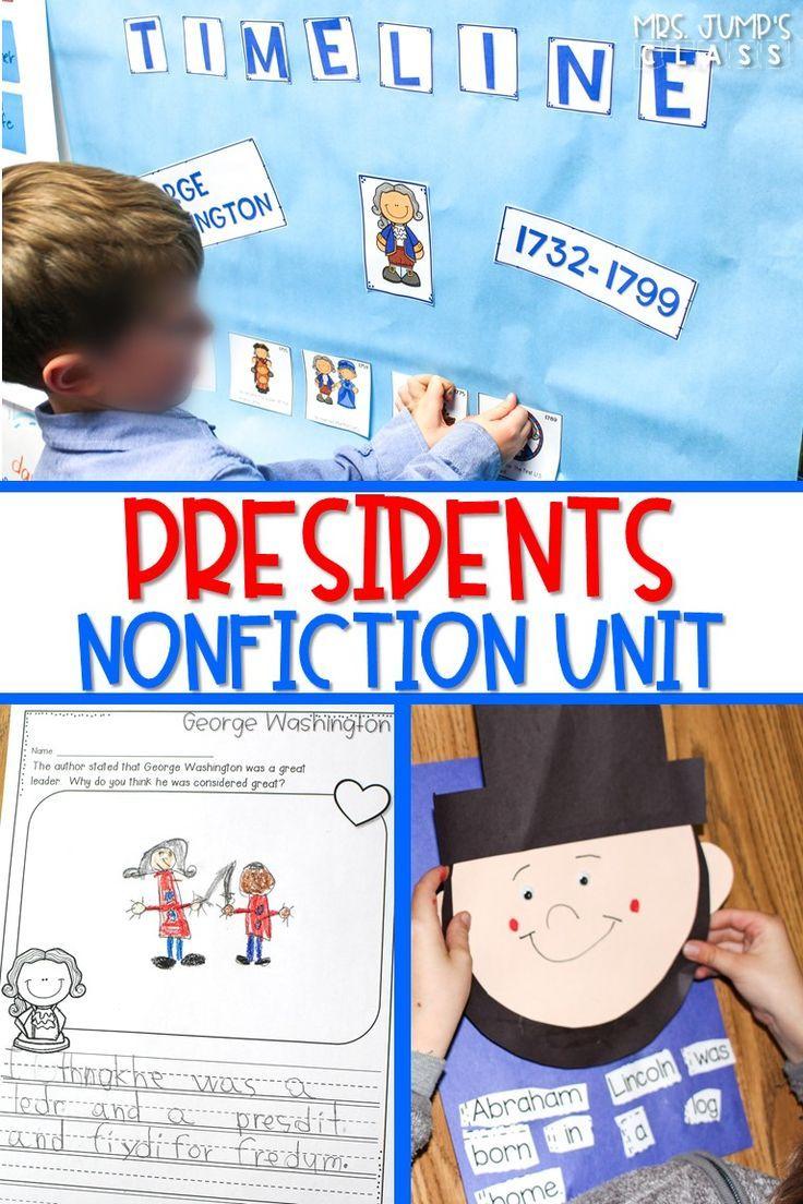 Presidents Nonfiction Unit In 2020 Kindergarten Lesson Plans Reading Lesson Plans President Lesson Plans [ 1104 x 736 Pixel ]