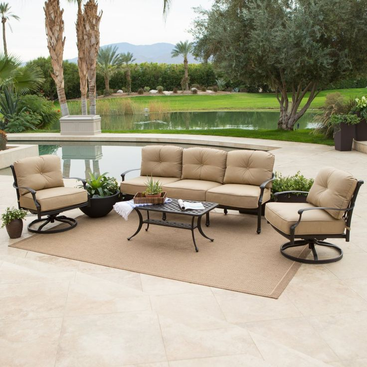 Best 25 Outdoor sofa sets ideas on Pinterest Rustic outdoor