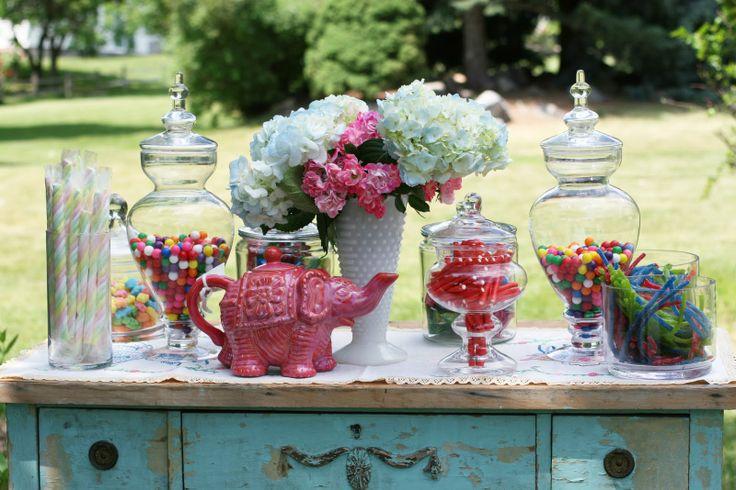 Mad Hatter Tea Party.: Hatters Teas, Wonderland Party, Kitchens Teas, Party Idea, Themed Party, Hatters Party, Cassi Teas, Teas Party, Candy Jars