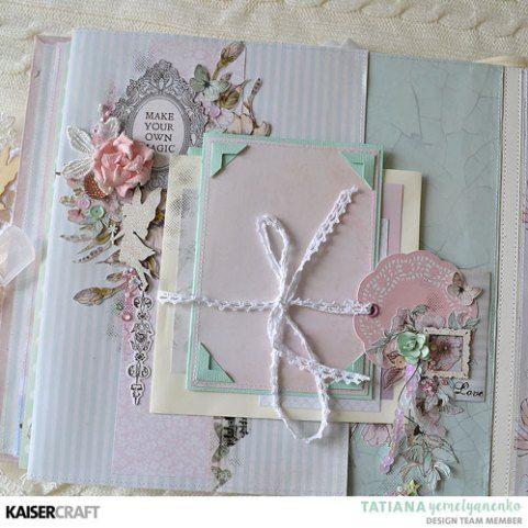 """Fairy Garden"" Album (25x25cm)   [view H ] by Tatiana Yemelyanenko Design Team Kaisercraft Official Blog. Featuring their March 2018 'Fairy Garden' collection. Learn more at kaisercraft.com.au - Wendy Schultz - Kaisercraft Projects."