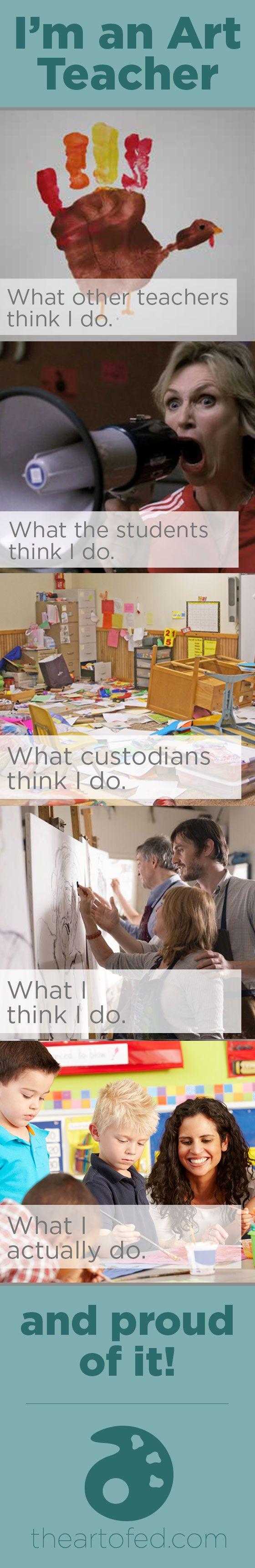 I'm an Art Teacher – and Proud of it!