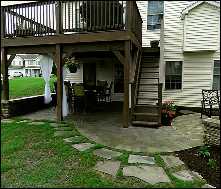 Gorgeous Under Deck Patio Ideas Under Deck Patio Ideas Home Design Ideas