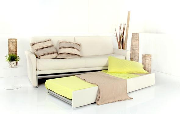 Vendita divano letto singolo, con secondo letto estraibile Derby di Tino Mariani. Il rivestimento può essere in tessuto sfoderabile, in pelle, microfibra o alcantara. http://www.tinomariani.it/prodotti/divano-letto-derby.html