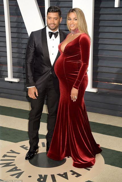 EkpoEsito.Com : Pregnant Ciara shows off baby bump in plunging dre...