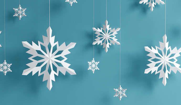Снежинки из бумаги. Шаблоны для вырезания детям