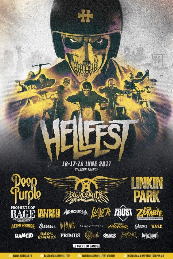Hellfest 2017 les 16, 17 et 18 Juin à Clisson. Partenariat La Grosse Radio