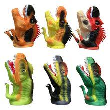 Dier Handschoenen 📌 Handpop Poppen Rubber Dinosaur Handpoppen @ pinterest Verhaal Vertellen Props Grappig speelgoed Simulatie Dier Dinosaurussen Pop(China (Mainland))