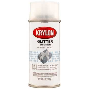 Krylon opulent opal glitter shimmer spray diy crafts for Spray glitter for crafts