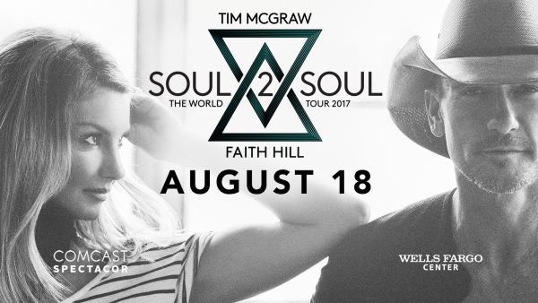 Tim McGraw & Faith Hill 'Soul2Soul II Tour' Coming to Wells Fargo Center in Philadelphia 8/18/17 {& a Ticket Giveaway)