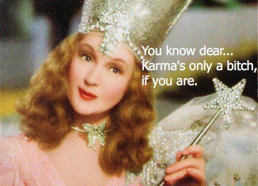 """who do u think ur a fucking fairy godmother with your rude comments of """"im granting you"""" to see your son on his birthday. Karma has already struck you and its coming back with a vengence"""