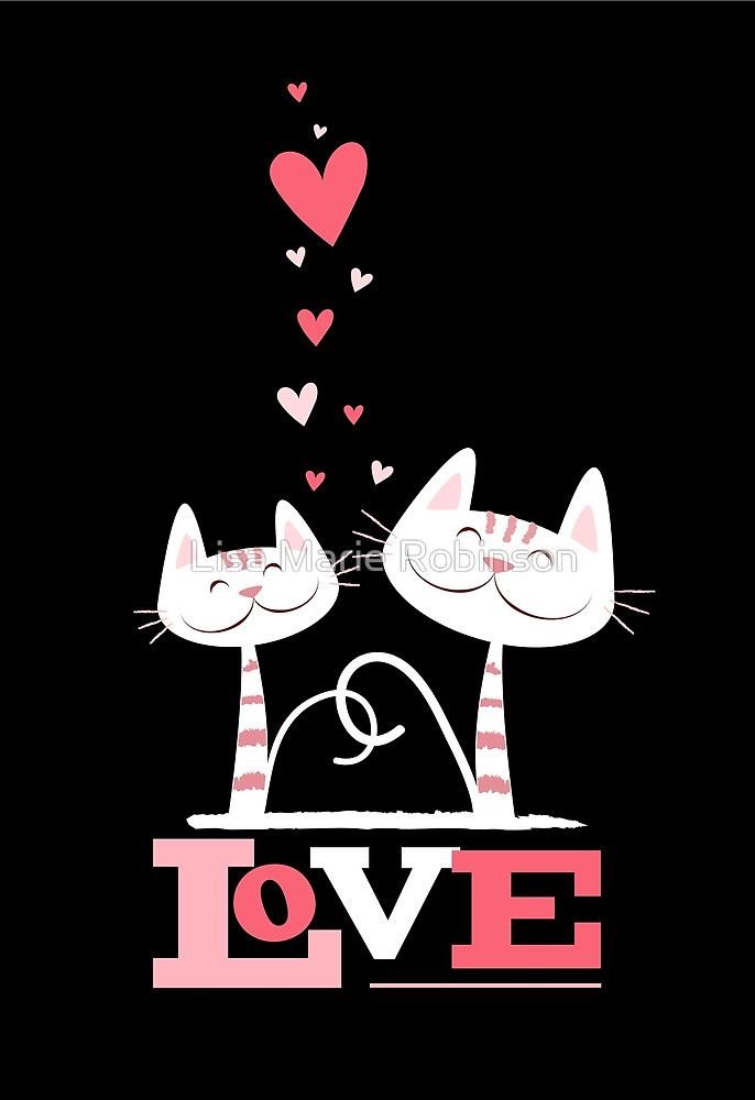 «2 Cats in Love» de Lisa Marie Robinson