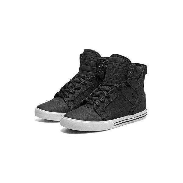 SUPRA Footwear ($125) ❤ liked on Polyvore featuring shoes, sneakers, chaussures, supra, black white sneakers, white and black sneakers, black and white sneakers, supra sneakers and lightweight sneakers
