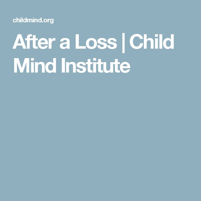After a Loss | Child Mind Institute