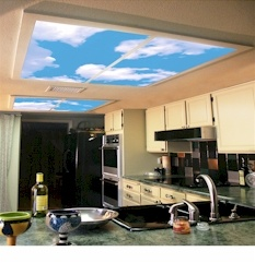 sky scapesu00ae decorative fluorescent lighting covers light panels and light diffusers - Decorative Fluorescent Light Covers
