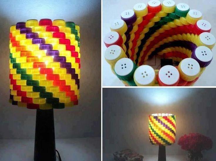 lampara de tapas plasticas