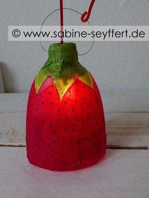 DIY Basteln mit Kindern: Wir basteln Laternen – leuchtende Erdbeerlaterne für St. Martin | Blog Sabine Seyffert