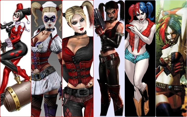 Harley Quinn evolution is it me or  did they make her look more like a skank every time they remade her?