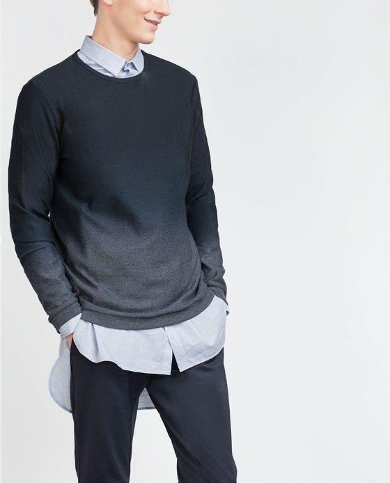 STRUCTURED DEGRADÉ SWEATER-View all-Knitwear-MAN | ZARA United States