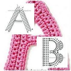 alphabet crochet patterns - cute for embellishing blankets?
