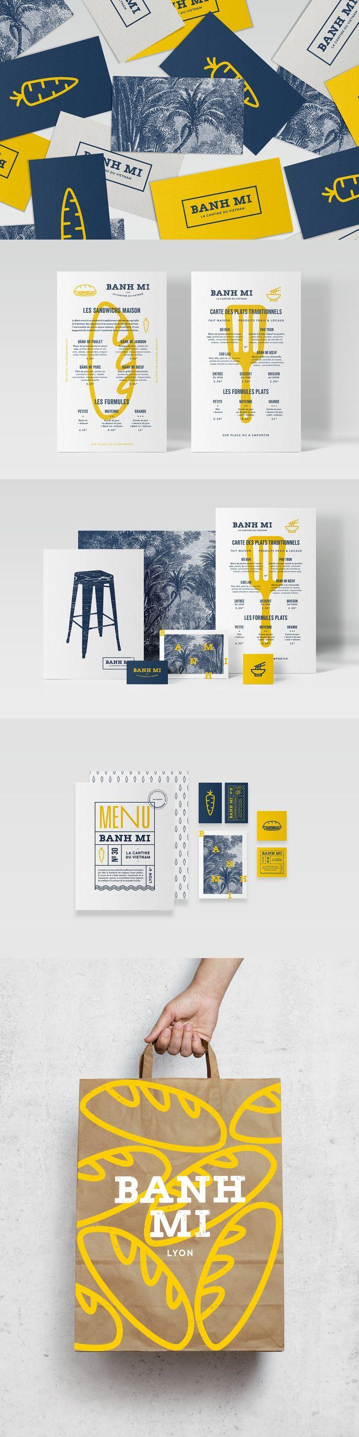 Banh Mi | Studio Cosmos | 2016 #food, #restaurant, #logo, #mockup, #vietnam, #graphic, #design, #menu, #france
