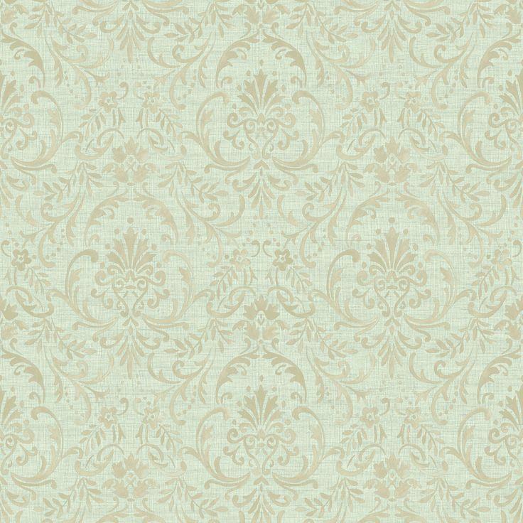 Colours Prestige Green Damask Mid Sheen Wallpaper | Departments | DIY at B&Q
