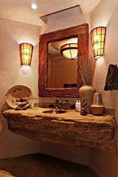 Cool rustic bathroom bathroom decor ideas inspiration pinterest