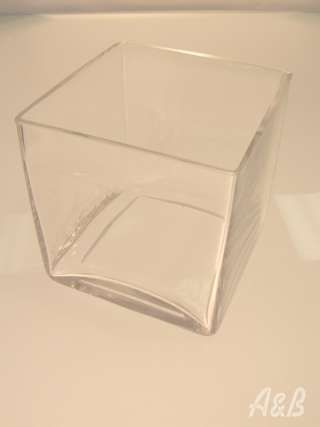 "Square Vase 6"" x 6"" x 6"" $7.25"