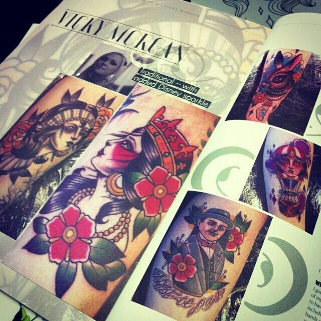 I'm so happy that my Poirot tattoo by the lovely Vicky Morgan, the original reason for this folder, is in the latest copy of Things  Ink magazine.