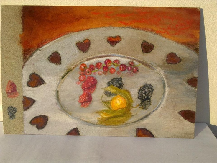 It is a small 61/2 by 8 pastel on La Carte (Sennelier) with a few pastel sticks Sennelier and carbothello pencils.