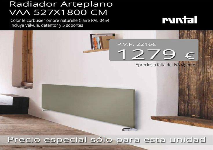 Radiador de dise o arteplano 527x1800 mm color le for Amado salvador catalogo
