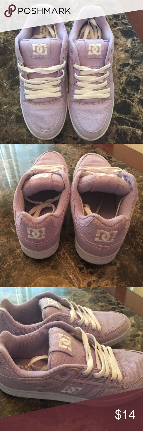 Lavender DC Sneakers Barely worn DC sneakers. Beautiful lavender color. DC Shoes Sneakers