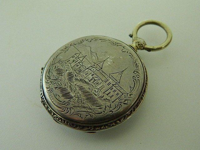 Visitate il mio negozio: http://www.ebay.it/sch/jumanantic/m.html Antico orologio da tasca argento silver pocket watch