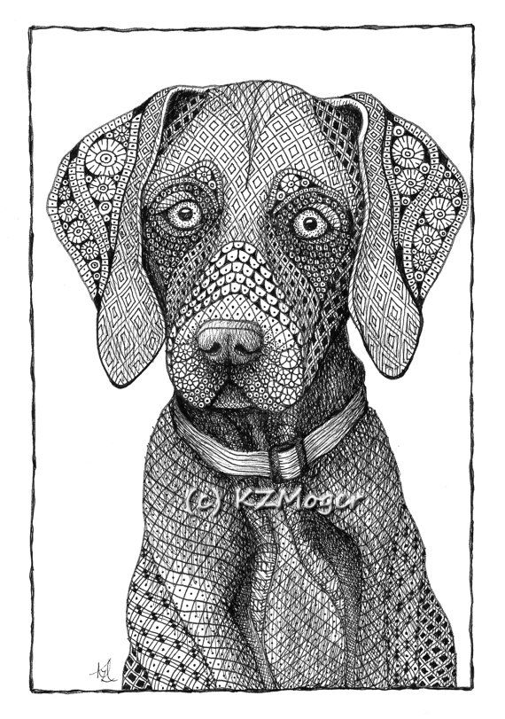 Large Breed Dog Portraits- more large breeds- matted print