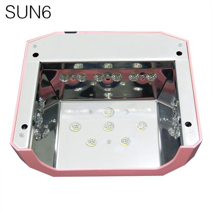 SUN6 AUTO Sensor UV LED Nail Lamp Nail Dryer Diamond Shaped 36W White Light 365nm 405nm. Click visit to buy #Nail #Tool #NailTool