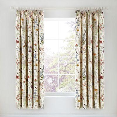 V & A Multicoloured cotton sateen 'Blythe Meadow' curtains | Debenhams