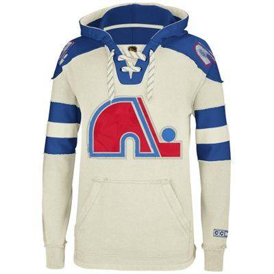 Reebok Quebec Nordiques CCM Pullover Hoodie - Natural