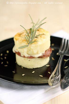 Sandwich di gnocchi di semolino al gorgonzola e finocchiona     #recipe #juliesoissons