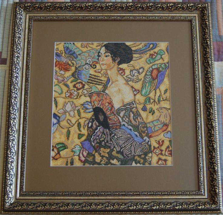 Gallery.ru / Дама с веером Климт - Мои работы - madina19