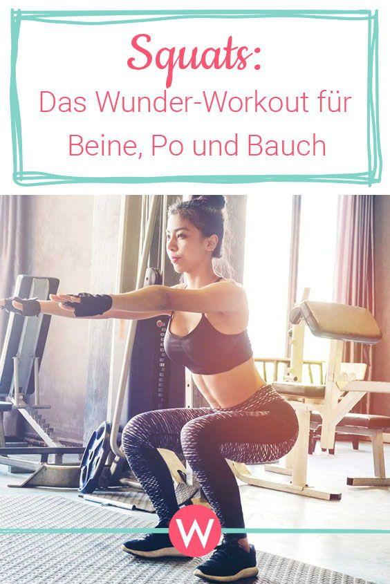 Squats: Workout für Bauch, Beine, Po