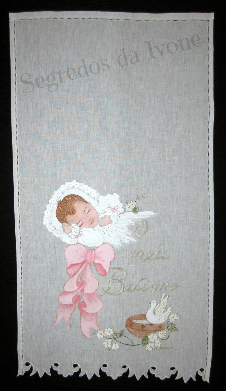 AB4- Pintura em toalha de batismo