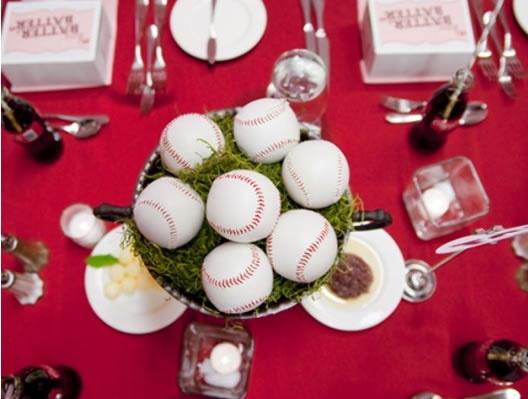 Baseball theme: Baseball Centerpieces, Baseb Centerpieces, Baseball Theme, Baseb Theme, Baseb Wedding, Mason Jars Centerpieces, Parties Ideas, Baseball Wedding, Center Pieces