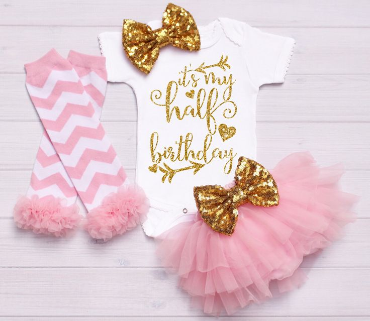 Baby Onesie Outfit Gold baby headband bow, Half Birthday Outfit, 1/2 Birthday Onesie, baby tutu,  birthday onesie,  personalized onesie by SimplyChicCouture on Etsy https://www.etsy.com/listing/266526849/baby-onesie-outfit-gold-baby-headband
