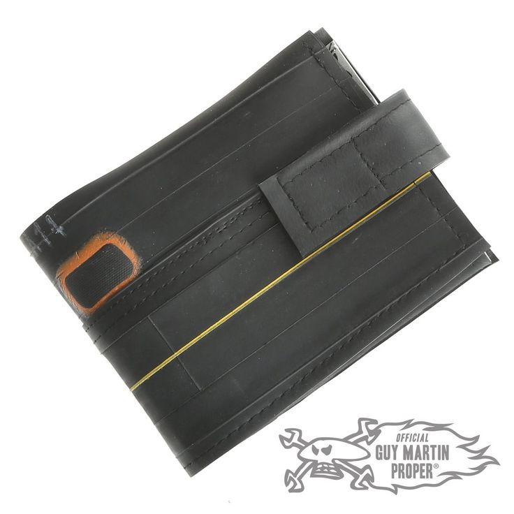 Guy Martin Proper have teamed up withTRI up CYCLE, to create theseunique Guy Martin wallets, made of used pushbikeinner tubes! Hand made in Lincoln, by Rache