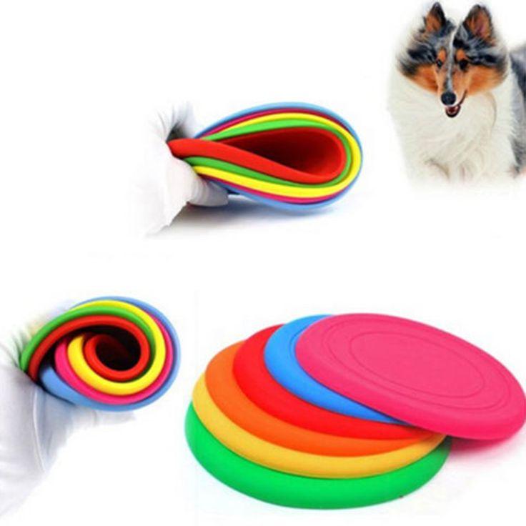 Vorkin Fantastis Pet Anjing Pelatihan Mainan Bermain Frisbee Flying Disc Gigi Tahan Pasang Gratis Pengiriman