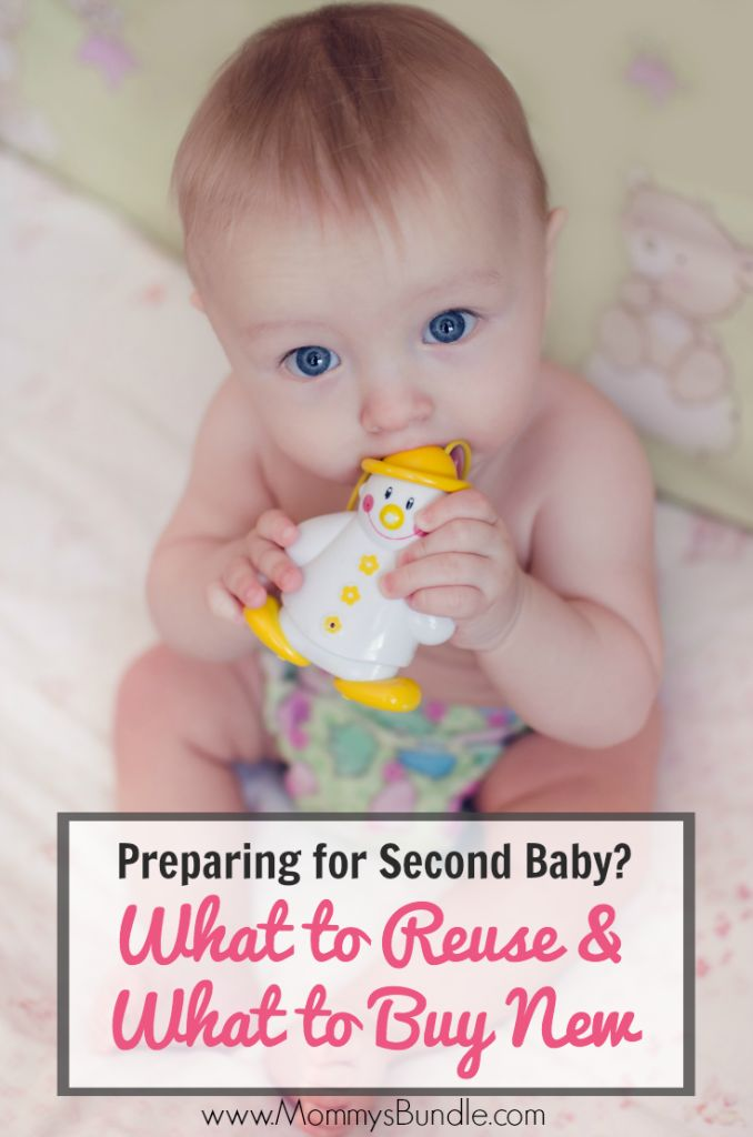 Having another baby? Find out what baby products you can reuse vs. what baby items you need to buy new!