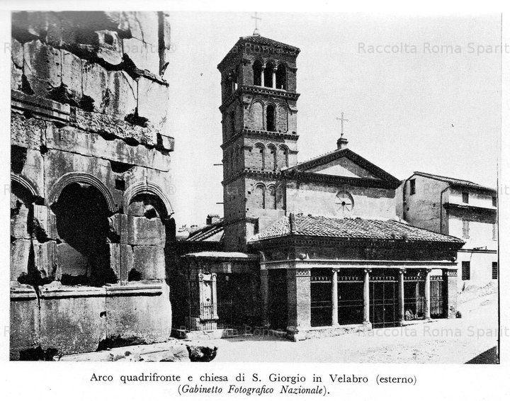 Arco Quadrifronte e San Giorgio al Velabro . Ripa. Anno: 1890
