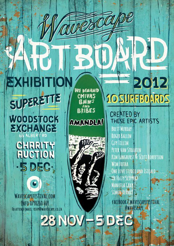 Wavescape Surf Festival 2012 by Studio Muti , via Behance